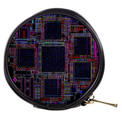 Technology Circuit Board Layout Pattern Mini Makeup Bags