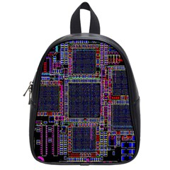 Technology Circuit Board Layout Pattern School Bags (small)