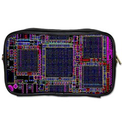 Technology Circuit Board Layout Pattern Toiletries Bags