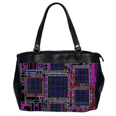 Technology Circuit Board Layout Pattern Office Handbags (2 Sides)