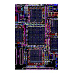 Technology Circuit Board Layout Pattern Shower Curtain 48  x 72  (Small)