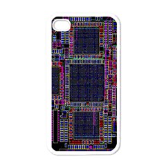 Technology Circuit Board Layout Pattern Apple Iphone 4 Case (white)