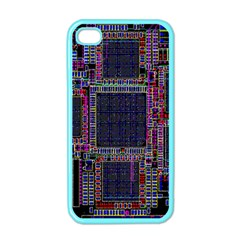 Technology Circuit Board Layout Pattern Apple iPhone 4 Case (Color)