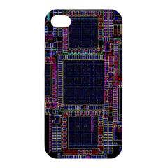 Technology Circuit Board Layout Pattern Apple Iphone 4/4s Hardshell Case