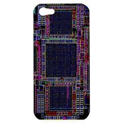 Technology Circuit Board Layout Pattern Apple Iphone 5 Hardshell Case