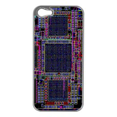 Technology Circuit Board Layout Pattern Apple iPhone 5 Case (Silver)