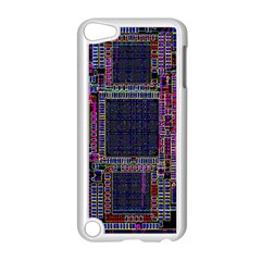 Technology Circuit Board Layout Pattern Apple iPod Touch 5 Case (White)