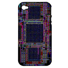 Technology Circuit Board Layout Pattern Apple Iphone 4/4s Hardshell Case (pc+silicone)