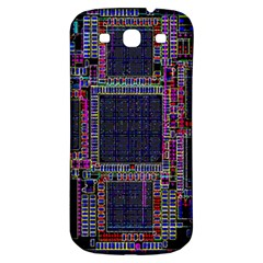 Technology Circuit Board Layout Pattern Samsung Galaxy S3 S Iii Classic Hardshell Back Case