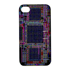 Technology Circuit Board Layout Pattern Apple iPhone 4/4S Hardshell Case with Stand