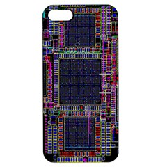 Technology Circuit Board Layout Pattern Apple iPhone 5 Hardshell Case with Stand