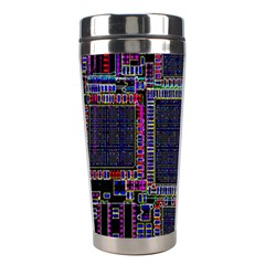 Technology Circuit Board Layout Pattern Stainless Steel Travel Tumblers