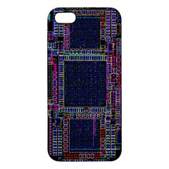 Technology Circuit Board Layout Pattern Iphone 5s/ Se Premium Hardshell Case