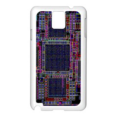 Technology Circuit Board Layout Pattern Samsung Galaxy Note 3 N9005 Case (White)