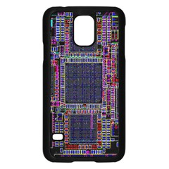 Technology Circuit Board Layout Pattern Samsung Galaxy S5 Case (black)