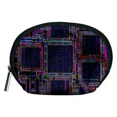 Technology Circuit Board Layout Pattern Accessory Pouches (medium)