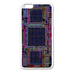 Technology Circuit Board Layout Pattern Apple Iphone 6 Plus/6s Plus Enamel White Case