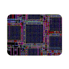 Technology Circuit Board Layout Pattern Double Sided Flano Blanket (Mini)