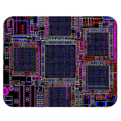Technology Circuit Board Layout Pattern Double Sided Flano Blanket (medium)