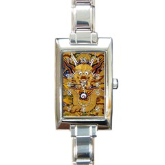Chinese Dragon Pattern Rectangle Italian Charm Watch