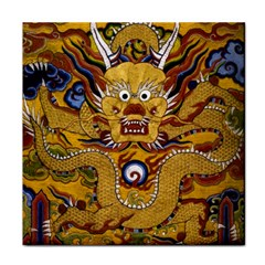 Chinese Dragon Pattern Tile Coasters