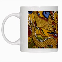 Chinese Dragon Pattern White Mugs