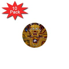 Chinese Dragon Pattern 1  Mini Buttons (10 Pack)