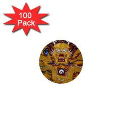 Chinese Dragon Pattern 1  Mini Buttons (100 Pack)