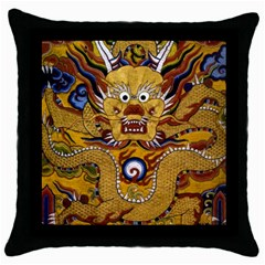 Chinese Dragon Pattern Throw Pillow Case (black)