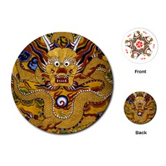 Chinese Dragon Pattern Playing Cards (round)