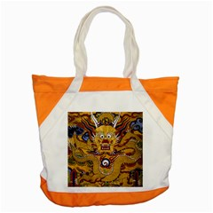 Chinese Dragon Pattern Accent Tote Bag