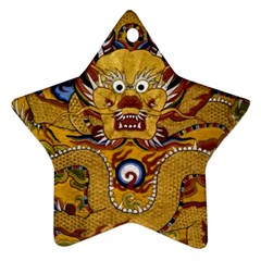 Chinese Dragon Pattern Star Ornament (Two Sides)