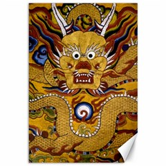 Chinese Dragon Pattern Canvas 12  x 18