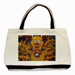 Chinese Dragon Pattern Basic Tote Bag (two Sides)