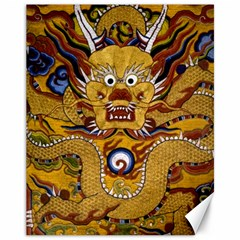 Chinese Dragon Pattern Canvas 11  X 14