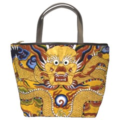 Chinese Dragon Pattern Bucket Bags