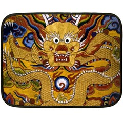 Chinese Dragon Pattern Double Sided Fleece Blanket (mini)