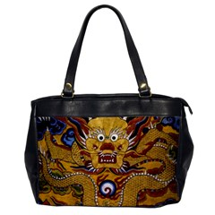 Chinese Dragon Pattern Office Handbags