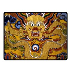 Chinese Dragon Pattern Double Sided Fleece Blanket (Small)