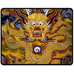 Chinese Dragon Pattern Double Sided Fleece Blanket (medium)