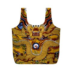 Chinese Dragon Pattern Full Print Recycle Bags (M)