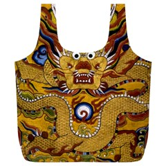 Chinese Dragon Pattern Full Print Recycle Bags (l)
