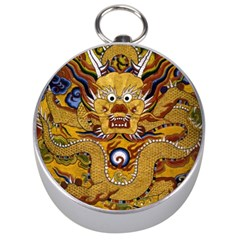 Chinese Dragon Pattern Silver Compasses