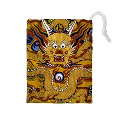 Chinese Dragon Pattern Drawstring Pouches (Large)