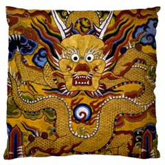 Chinese Dragon Pattern Large Flano Cushion Case (One Side)