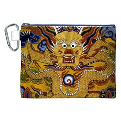 Chinese Dragon Pattern Canvas Cosmetic Bag (XXL)