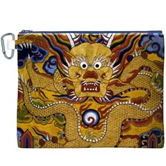 Chinese Dragon Pattern Canvas Cosmetic Bag (xxxl)