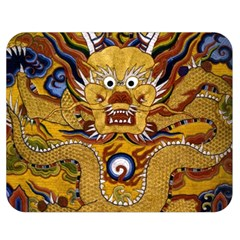 Chinese Dragon Pattern Double Sided Flano Blanket (Medium)