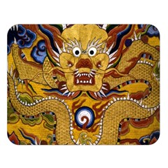 Chinese Dragon Pattern Double Sided Flano Blanket (large)