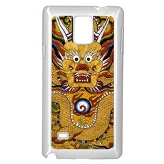Chinese Dragon Pattern Samsung Galaxy Note 4 Case (White)